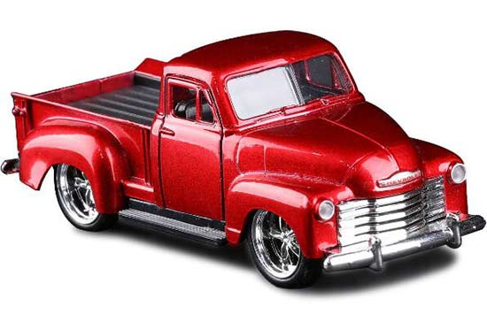 Red / Black 1:32 JADA Kids Diecast Chevrolet Pickup Truck Toy