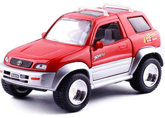 1:24 Scale Kids Red / Yellow Diecast Toyota RAV4 Toy