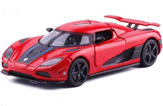 1:32 Scale White/ Red/ Blue Kids Diecast Koenigsegg Agera Toy