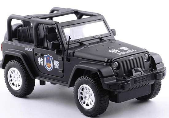 1:32 Scale Kids Black Police Diecast Jeep Car Toy