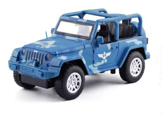 Blue 1:32 Scale Kids Air Force Diecast Jeep Car Toy