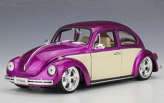 Purple / Red / Gray / Green Welly 1:24 Diecast VW Beetle Model