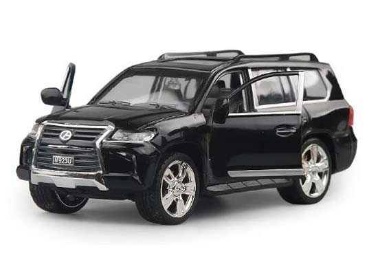 Kids 1:24 Scale Black / White Diecast Lexus LX570 Toy