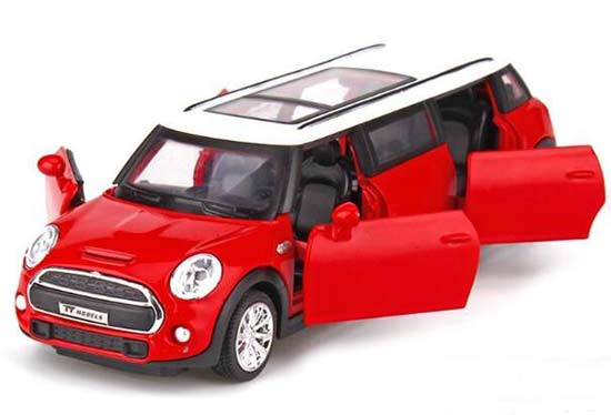 Kids Red / Yellow / Blue / Pink Diecast Mini Cooper Toy