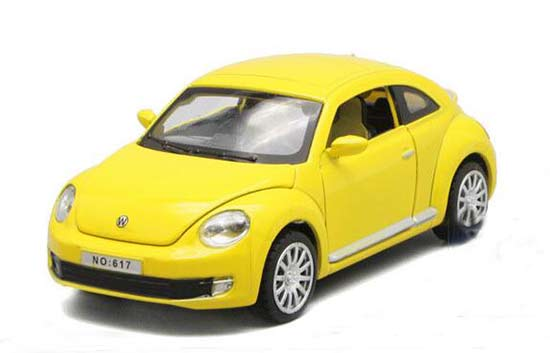 Kids 1:32 Green / Purple / Red / Yellow Diecast VW Beetle Toy