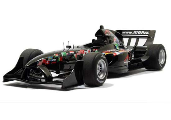 Black 1:18 Scale Autoart Diecast Formula Model