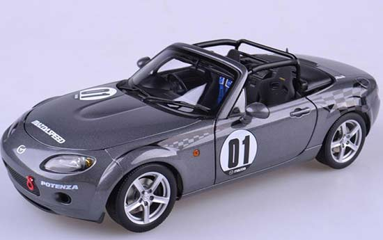 Gray Autoart 1:18 Scale Diecast Mazda Roadster NC NR-A Model