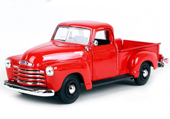 Red 1:25 Scale Maisto Diecast 1950 Chevrolet 3100 Pickup Model