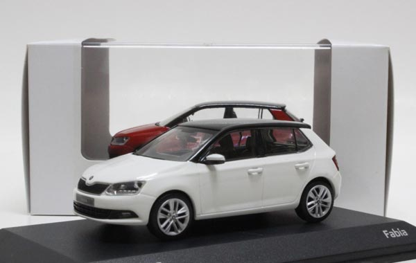 1:43 Scale Black Diecast Skoda Fabia Model
