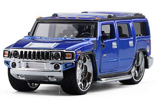 1 32 scale blue bburago diecast hummer h2 model nb2t220