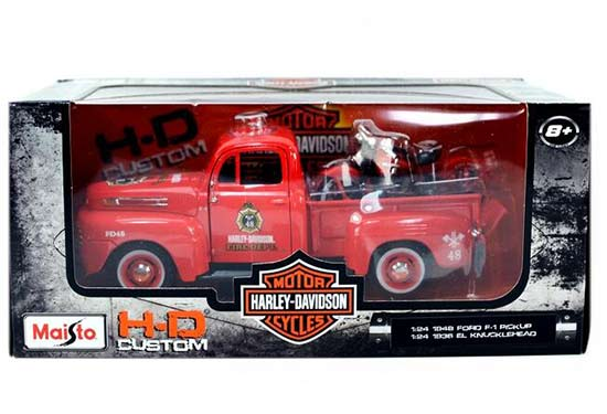 1:24 Scale Red Maisto Diecast 1948 Ford F-1 Pickup Truck Model