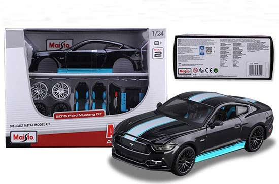 Black Maisto Assembly Diecast 2015 Ford Mustang GT Model
