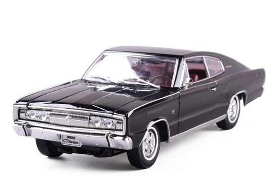 Black 1:18 Scale Diecast 1966 Dodge Charger Model