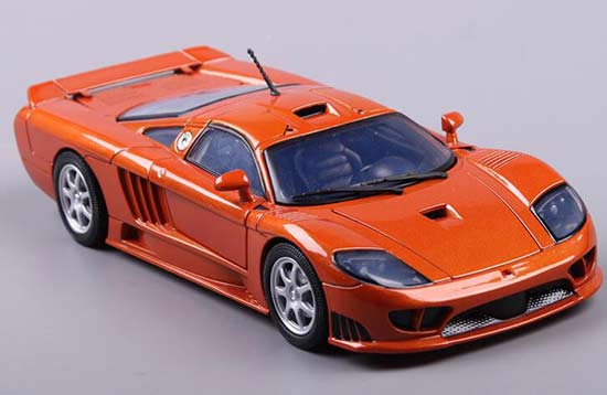 Orange 1:18 Scale Motormax Diecast 2004 Ford Saleen S7 Model