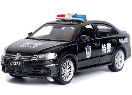 1:32 Scale White / Black Kids Police Diecast VW Lavida Toy
