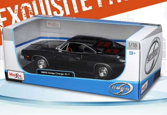 Orange / Black 1:18 Maisto Diecast 1969 Dodge Charger Model