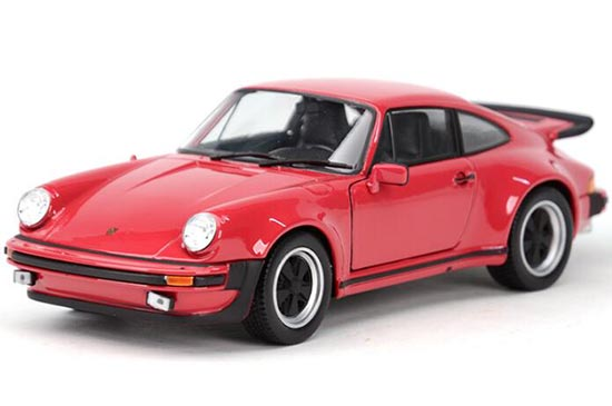Red / White Welly 1:24 1974 Diecast Porsche 911 Turbo Model