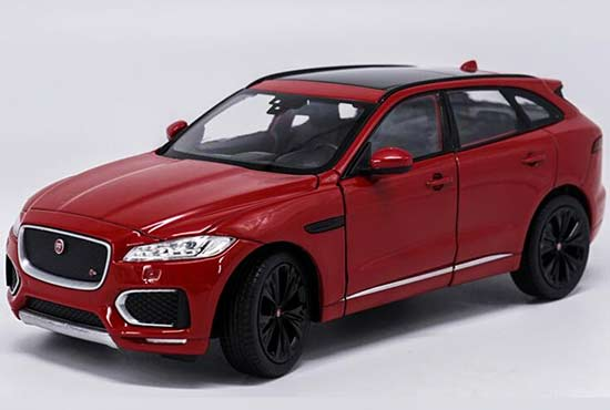 White / Red / Blue / Champagne Diecast Jaguar F-PACE Model