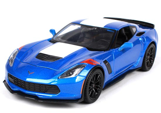 1:24 Blue Diecast 2017 Chevrolet Corvette Grand Sport Model