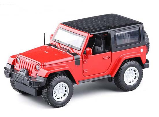 Yellow / Red / White 1:32 Scale Kids Diecast Jeep Wrangler Toy