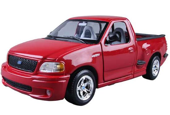 Red 1:21 Maisto Diecast Ford F-150 SVT Lightning Pickup Model
