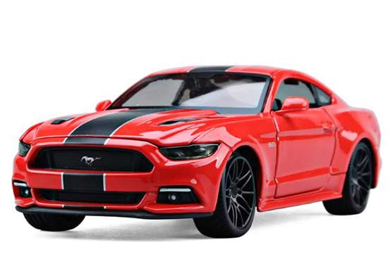 Red 1:24 Scale Maisto 2015 Diecast Ford Mustang GT Model