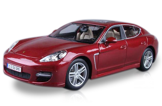 Red / Black 1:18 Maisto Diecast Porsche Panamera Turbo Model