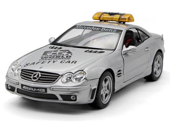 Silver Maisto Diecast Mercedes Benz SL55 AMG Safety Car Model