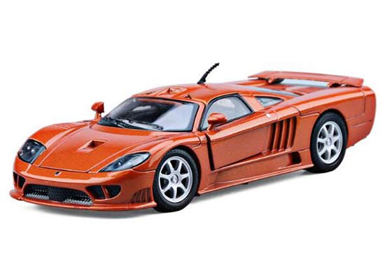 Orange 1:24 Scale Motormax Diecast 2004 Ford Saleen S7 Model