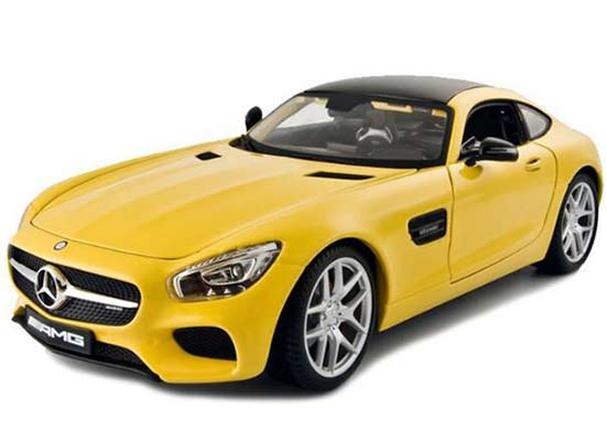 Yellow / Silver / Black Diecast Mercedes Benz GT AMG Model