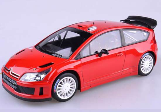 1:18 Scale Red Autoart 2004 Diecast Citroen C4 Model