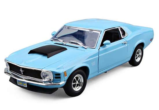 Motormax 1:18 Blue Diecast 1970 Ford Mustang Boss 429 Model
