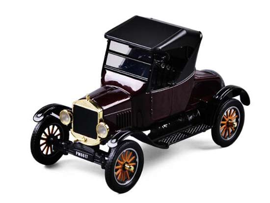 Brown 1:24 Motormax Diecast 1925 Ford Model T Runabout Model