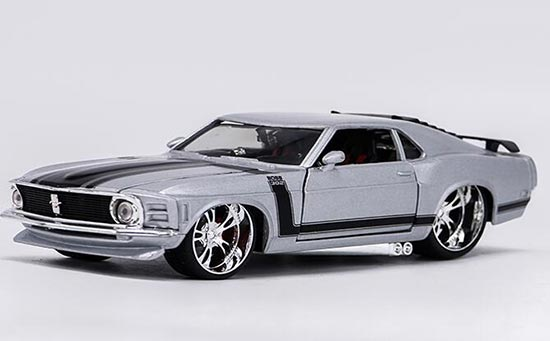 1:24 Scale Silver Maisto Diecast Ford Mustang BOSS 302 Model