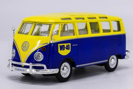 1:24 Scale Blue-Yellow Maisto Diecast VW T1 Bus Model