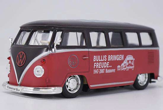 Red Welly 1:24 Scale Diecast VW T1 Bus Model