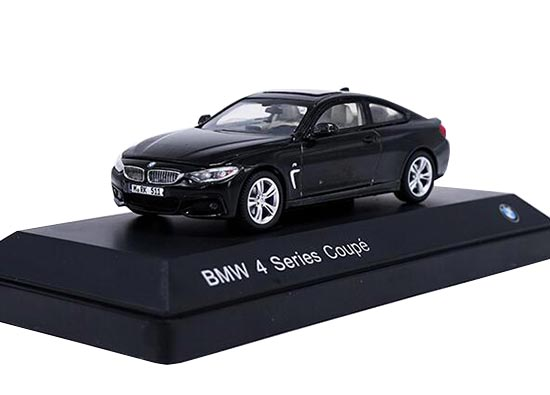 1:43 Scale White / Black Diecast BMW 4 Series Coupe Model