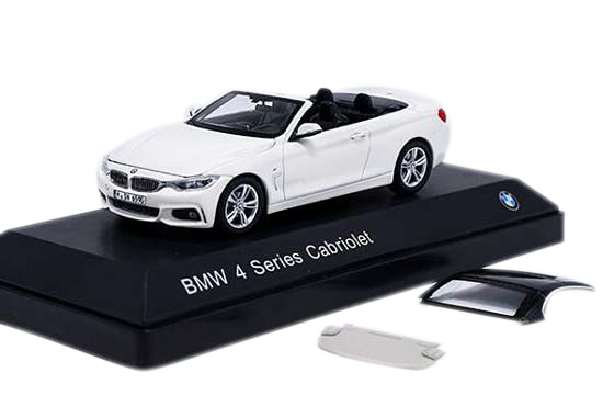 White / Black 1:43 Scale Diecast BMW 4 Series Cabriolet Model