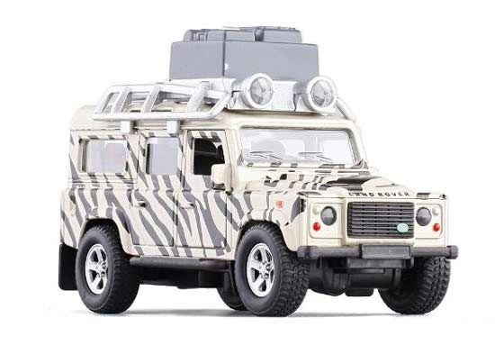 1:32 Scale White Kids Diecast Land Rover Defender Toy