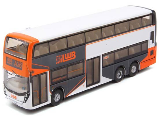 TINY Hong Kong LWB A36 Airport Diecast Double Decker Bus Toy