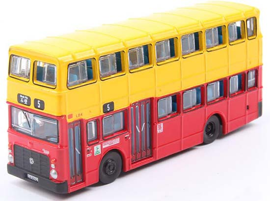 Red-White TINY Hong Kong KMB Diecast Double Decker Bus Toy