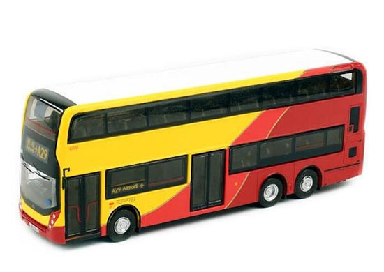 Red-Yellow Hong Kong E500 Airport Diecast Double Decker Bus Toy