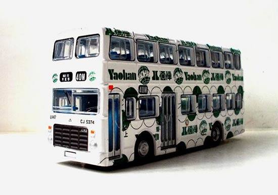 White Hong Kong CMB Victory MK2 Diecast Double Decker Bus Toy