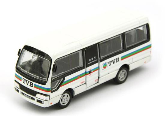 White Hong Kong Toyota Coaster TVB Diecast Coach Bus Toy