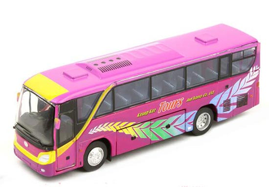 Purple Tiny Keung Kee Tour Diecast Isuzu Coach Bus Toy