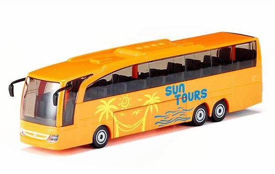 Orange SIKU 3738 Diecast Mercedes Benz Travego Coach Bus Toy