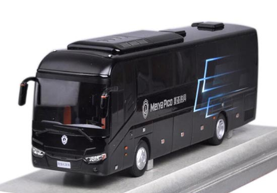 Black 1:43 Scale Diecast Meiya Pico Coach Bus Model