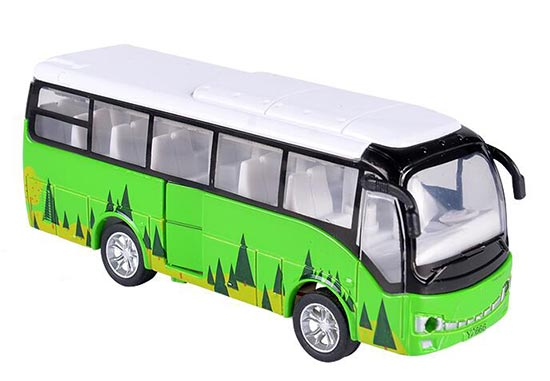 Kids Red / Yellow / White / Green Diecast Coach Bus Toy
