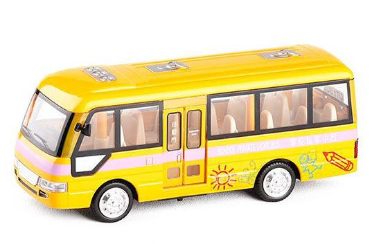 Kids 1:40 Scale Yellow Diecast School Bus Toy