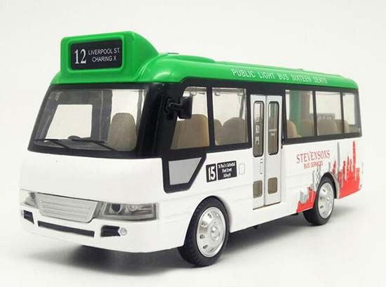 1:40 Scale Kids Green-White Diecast City Bus Toy